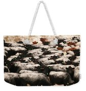 Cattle With Snow On Their Backs Weekender Tote Bag