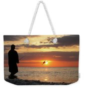Caught At Sunset Weekender Tote Bag