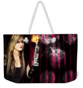 Caught In The Act Of Setting The Stage On Fire Weekender Tote Bag