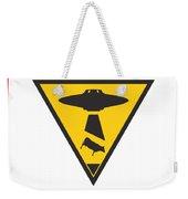 Caution Ufos Weekender Tote Bag