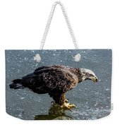 Cautious Eagle Weekender Tote Bag
