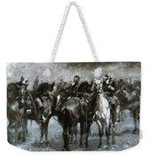 Cavalry In An Arizona Sandstorm 1889 Weekender Tote Bag