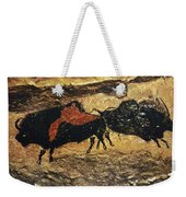 Cave Art: Bison Weekender Tote Bag