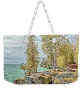 Cave Point Bluffs 2 Weekender Tote Bag