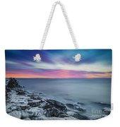 Cave Point Sunrise Weekender Tote Bag