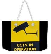 Cctv Warning Sign Weekender Tote Bag