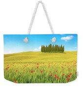 Cedar Grove And Poppies Weekender Tote Bag