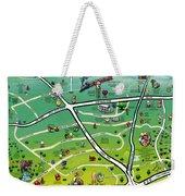 Cedar Park Texas Cartoon Map Weekender Tote Bag