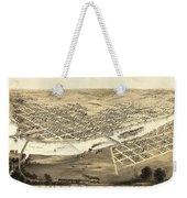 Cedar Rapids Iowa 1868 Weekender Tote Bag