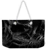 Cedar Roots Black And White Weekender Tote Bag
