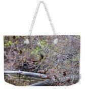 Cedar Waxwings Feeding Weekender Tote Bag