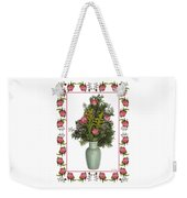 Celadon Vase With Goldenrod Weekender Tote Bag