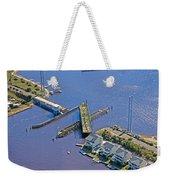 Celebrate The Swing Bridge Weekender Tote Bag