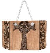 Celtic Cross Weekender Tote Bag by Debbie DeWitt