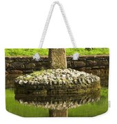 Ancient Celtic Cross At St Patrick Well Weekender Tote Bag