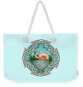Celtic Flamingo Art Weekender Tote Bag