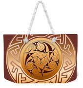 Celtic Spiral And Key Pattern Weekender Tote Bag