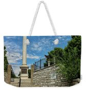 Cemetery Entrance And Lovejoy Monument  Weekender Tote Bag