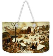 Census At Bethlehem Weekender Tote Bag by Pieter the Elder Bruegel
