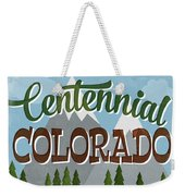 Centennial Colorado Snowy Mountains	 Weekender Tote Bag