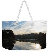 Centennial Lake Autumn - Great View From The Bridge Weekender Tote Bag