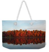 Centennial Lake Autumn - In Full Autumn Bloom Weekender Tote Bag