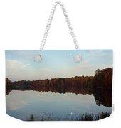 Centennial Lake Autumn - Reflective Moon Over The Lake Weekender Tote Bag