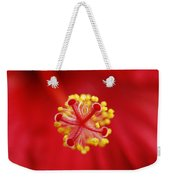 Center Of The Hibiscus Universe Weekender Tote Bag