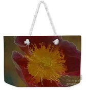 Center Of Yellow Weekender Tote Bag
