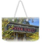 Center Street Cafe Sign Weekender Tote Bag