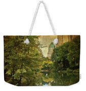 Central Park In Autumn Texture 4 Weekender Tote Bag
