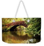 Central Park In Autumn Texture 6 Weekender Tote Bag