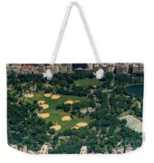 Central Park North Meadow In New York City Aerial View Weekender Tote Bag