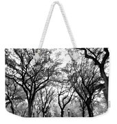 Central Park Nyc In Black And White Weekender Tote Bag