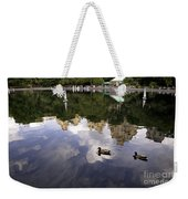 Central Park Pond With Two Ducks Weekender Tote Bag by Madeline Ellis