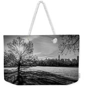 Central Park's Sheep Meadow - Bw Weekender Tote Bag