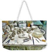 Ceramic Objects And Brushes On The Table Weekender Tote Bag