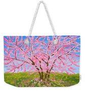 Cercis Tree, Oil Painting Weekender Tote Bag
