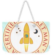 Certified Rocket Man Weekender Tote Bag by Gaspar Avila