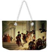 Cesare Borgia Leaving The Vatican Weekender Tote Bag by Giuseppe Lorenzo Gatteri