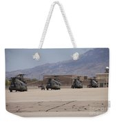 Ch-47 Chinook Helicopters On The Flight Weekender Tote Bag