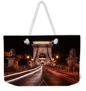 Chain Bridge At Midnight Weekender Tote Bag