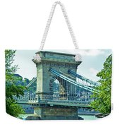 Chain Bridge Budapest Weekender Tote Bag