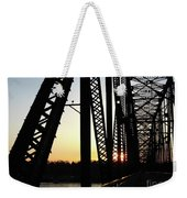 Chain Of Rocks At Sunset Weekender Tote Bag