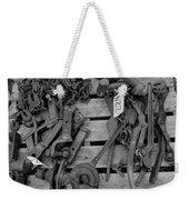 Chain Pallet Bw Weekender Tote Bag