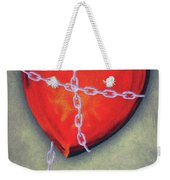 Chained Heart Weekender Tote Bag by Jeff Kolker