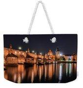 Chains Bridge In Prague Weekender Tote Bag