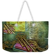 Chains, Poetry And Spirits Weekender Tote Bag