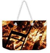Chair Burning In Guy Fawkes Night Bonfire Weekender Tote Bag