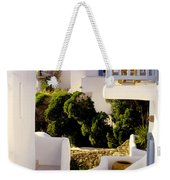 Chair On Balcony In Mykonos Weekender Tote Bag